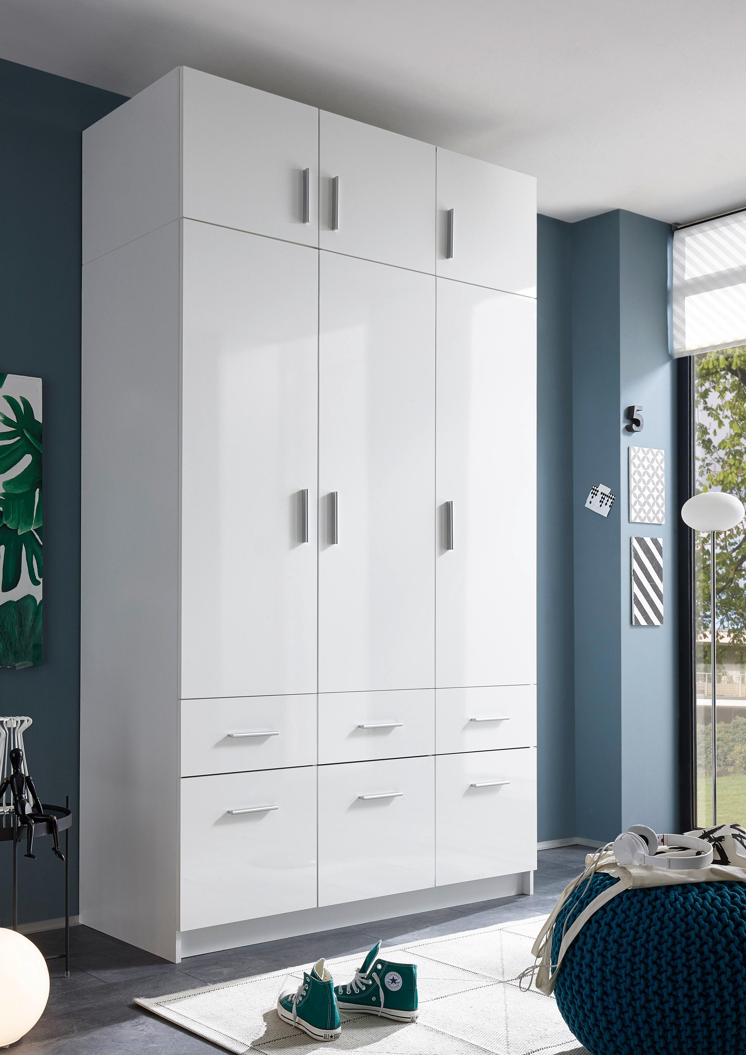 kleiderschrank mit aufsatz und schubk sten. Black Bedroom Furniture Sets. Home Design Ideas