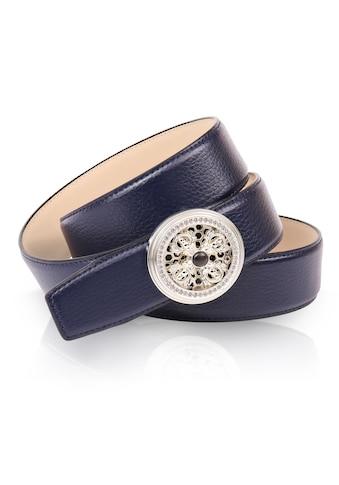 Anthoni Crown Ledergürtel, mit natursilberfarbener Koppelschließe und drehendem... kaufen