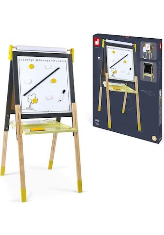 Janod Standtafel »Magnet- und Kreidetafel, gelb/grau mit Zubehör« kaufen