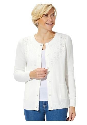Strickjacke mit elegantem Ajour - Strick kaufen