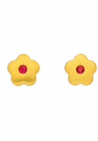 Adelia´s Paar Ohrstecker »333 Gold Ohrringe / Ohrstecker Blüte mit synthetischer... kaufen