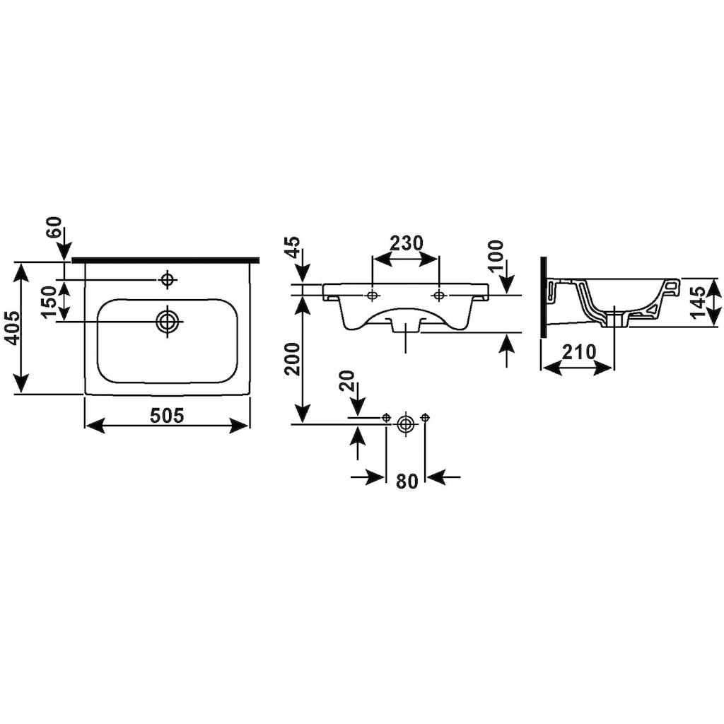 CORNAT Waschbecken »ADRIA«, Breite 50 cm