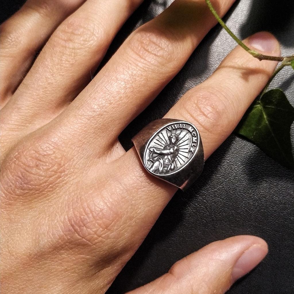 CAÏ Fingerring »925/- Sterling Silber matt-oxidiert«, Ring
