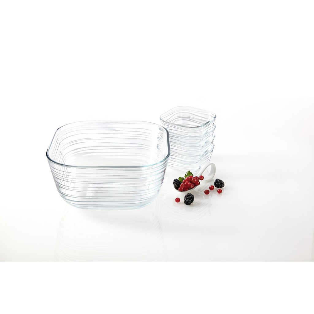 "LEONARDO Servierschüssel ""GUSTO STRUTTURA"", Glas, (Set 5-tlg.)"