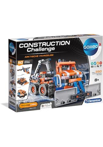 Clementoni® Modellbausatz »Galileo - Construction Challenge - Arktische Fahrzeuge«, Mit kostenloser App; Made in Europe kaufen