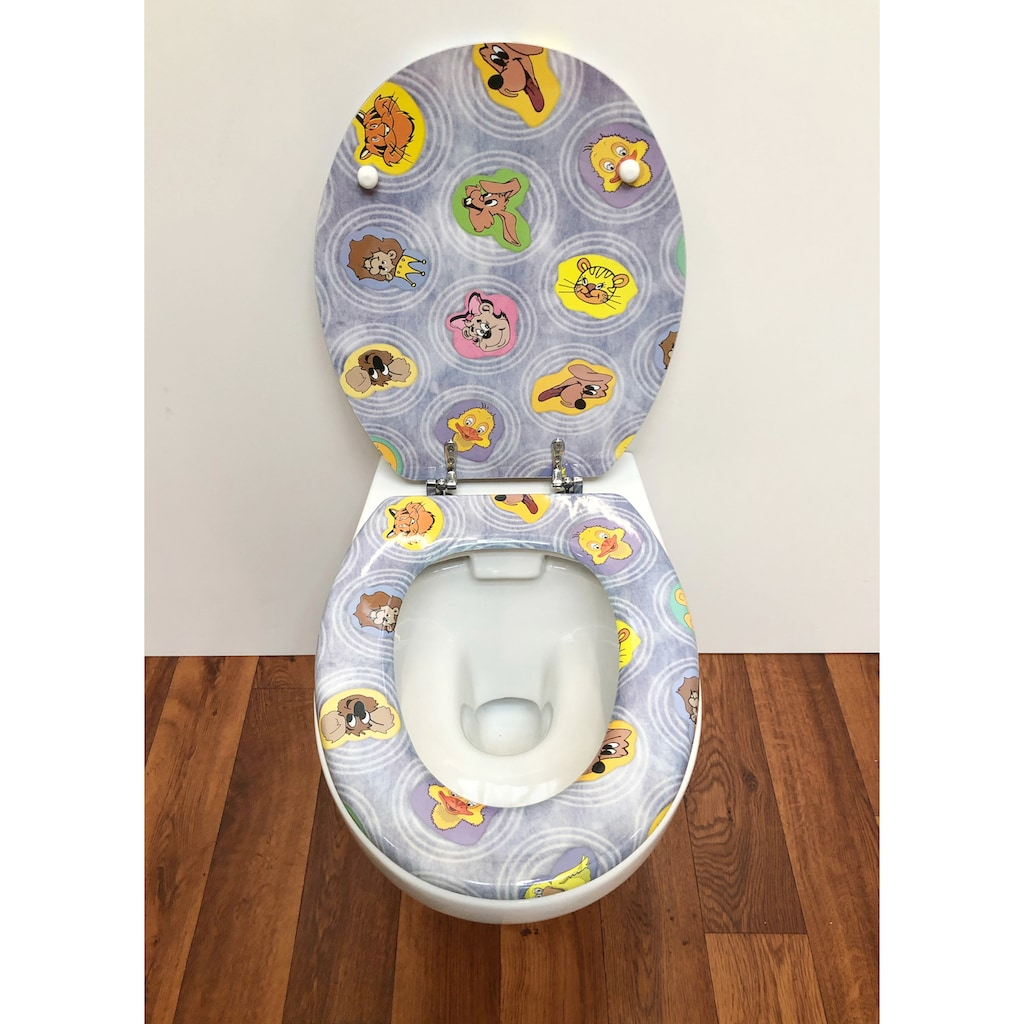 ADOB WC-Sitz »Comic«, mit messingverchromten Scharnieren