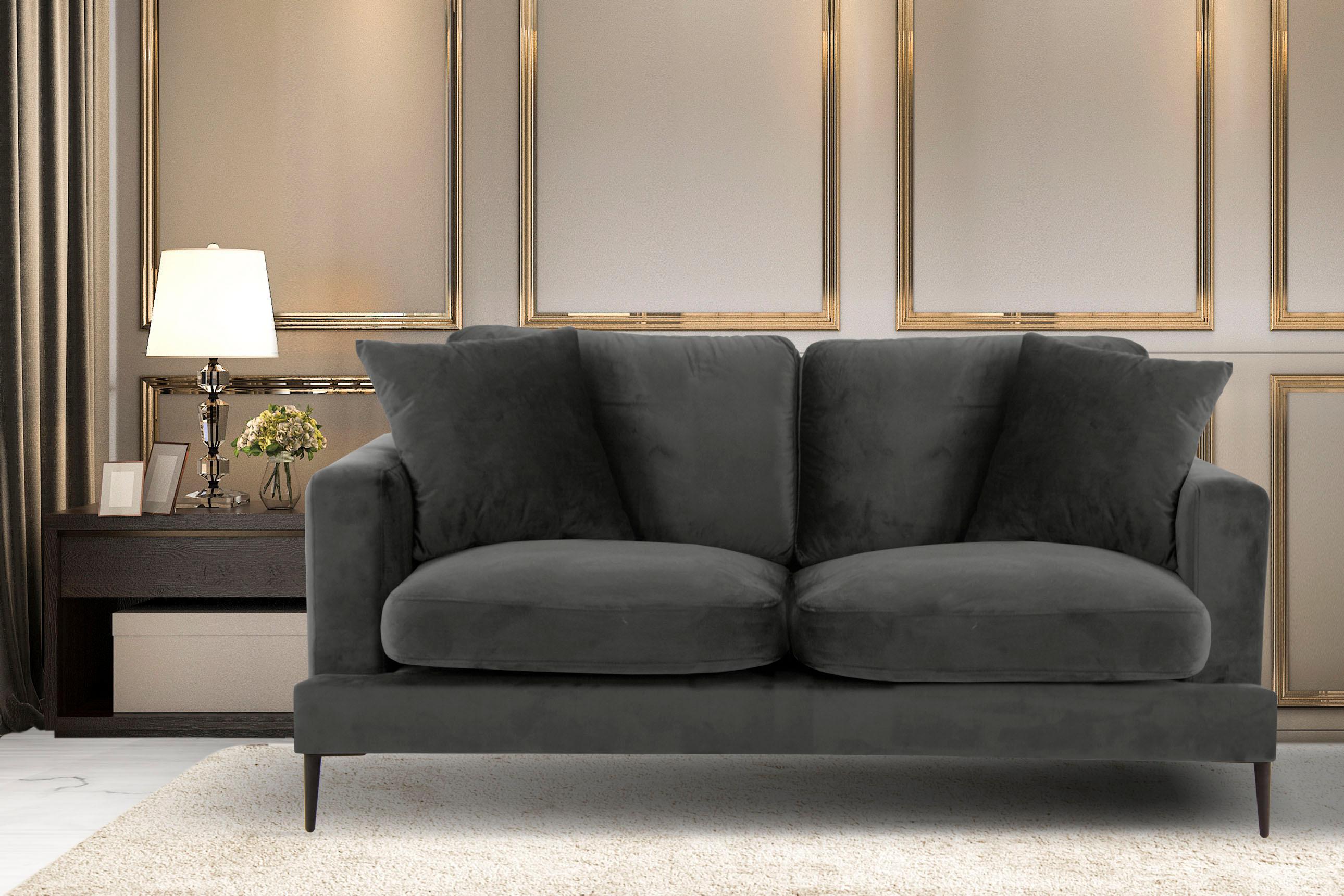 Leonique 2-Sitzer Cozy mit losen Kissen und Metallbeinen