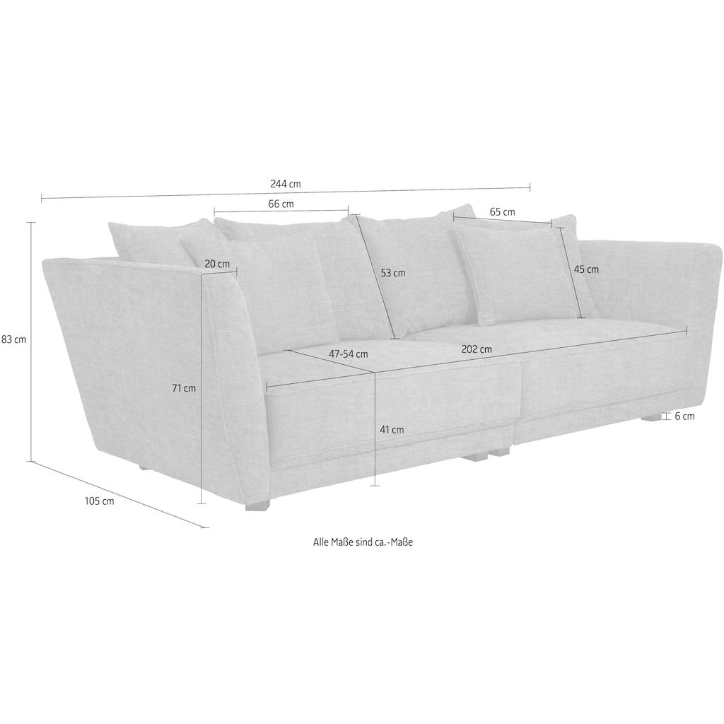furninova Big-Sofa »Scarlett«, inklusive 6 Kissen, besonders bequem durch Memoryschaum, im skandinavischen Design