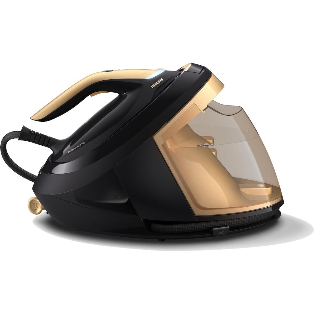 Philips Dampfbügelstation »PerfectCare 8000 Series PSG8140/80«, mit Geschwindigkeitsmodus ermöglicht Ihnen ein noch schnelleres und komfortableres Bügelerlebnis. Sparen Sie Zeit beim Bügeln und genießen Sie mehr Momente mit Ihren Liebsten.