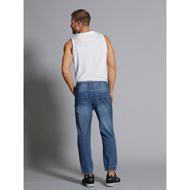 Men Plus by Happy Size Jogpants in Used-Optik