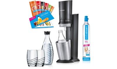 """SodaStream Wassersprudler """"Crystal 2.0"""" (12 - tlg., 1 Wassersprudler, 2 Glaskaraffen, 1 CO2 - Zylinder, 2 Gläser, 6 Sirupproben) kaufen"""