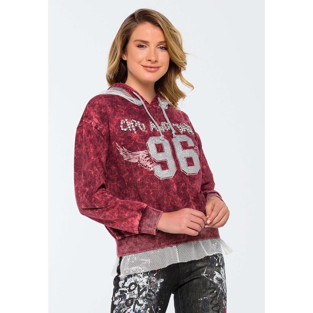 Cipo & Baxx Kapuzensweatshirt, im sportlichen College-Look