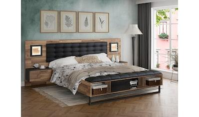 FORTE Bettanlage »Jakobina«, mit Beleuchtung, Bettbank und Polsterkopfteil kaufen