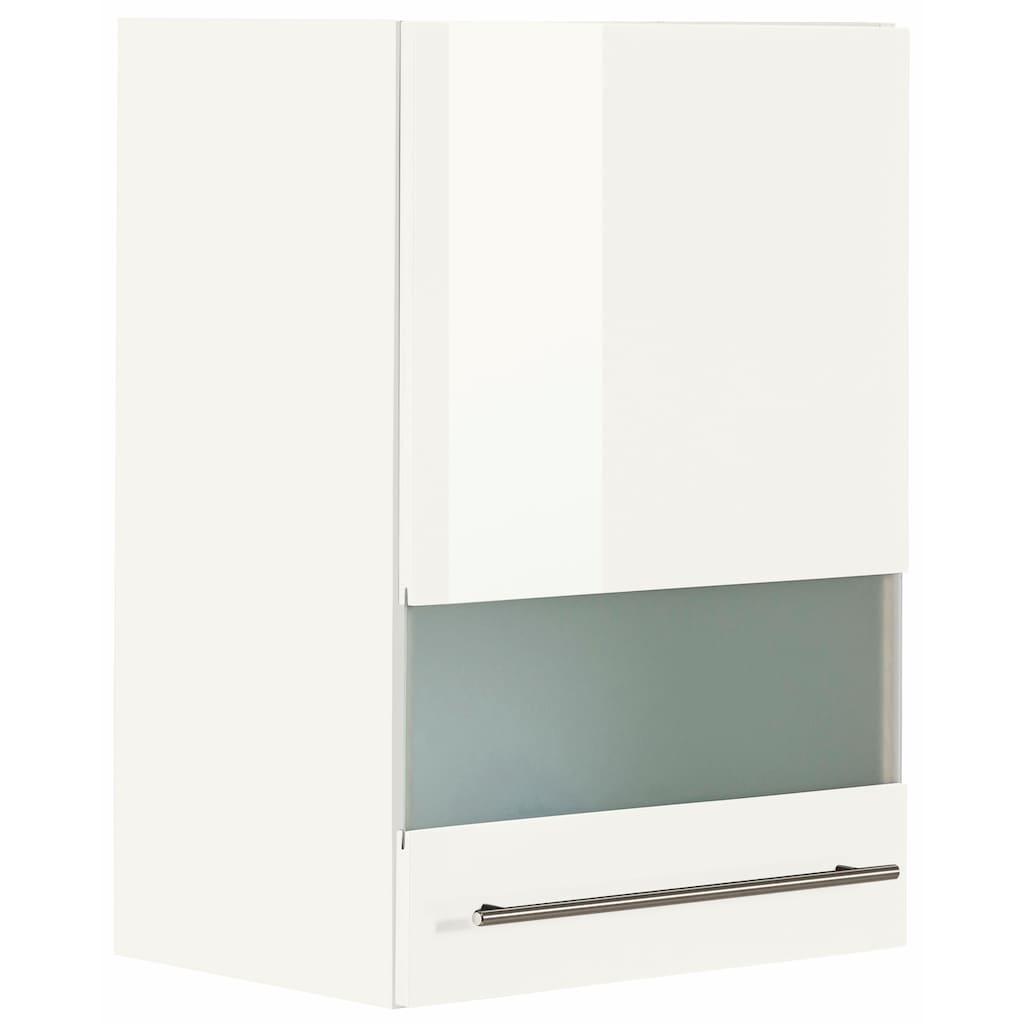 OPTIFIT Glashängeschrank »Bern«, Breite 50 cm, Front mit Milchglas-Einsatz, mit Metallgriff