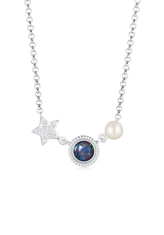 Nenalina Collierkettchen »Stern Opal Perle Kristalle 925 Silber« kaufen