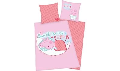 Peppa Pig Kinderbettwäsche »Peppa Pig«, mit niedlichem Peppa Pig Motiv kaufen