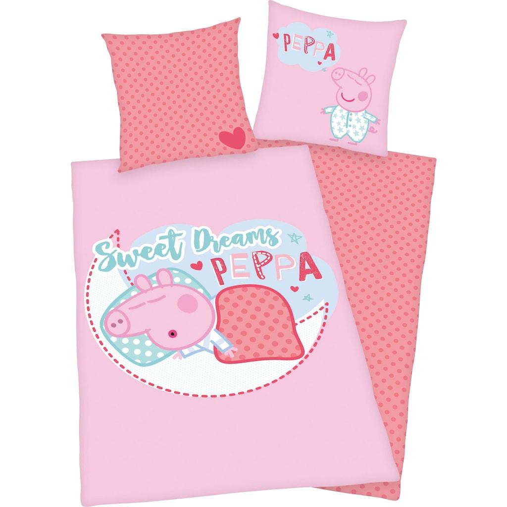 Peppa Pig Kinderbettwäsche »Peppa Pig«, mit niedlichem Peppa Pig Motiv