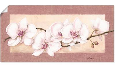 Artland Wandbild »Orchideenzweig_in Beerentönen«, Blumen, (1 St.), in vielen Größen &... kaufen