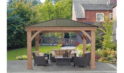 WESTMANN Holzpavillon »Devon 12x14«, BxT: 366x427 cm kaufen