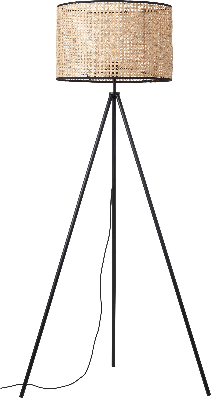 COUCH♥ Stehlampe feines Geflecht, E27, 1 St., Stehleuchte mit Wiener Geflecht Schirm, COUCH♥ Lieblingsstücke, Retro, standfestes Dreibein