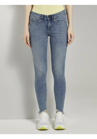 TOM TAILOR Denim Skinny-fit-Jeans »Jona Extra-Skinny Jeans mit Fransen« kaufen