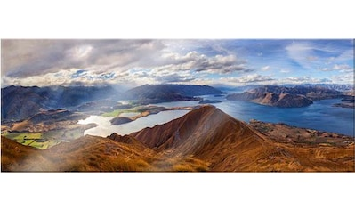 Wall-Art Acrylglasbild »Yan - Aussicht vom Roys Peak - Panorama«, 100/40 cm kaufen