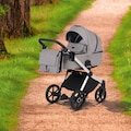 Knorrbaby Kombi-Kinderwagen »Life+ 2.0 Silver Edition, Graphit«, 15 kg, Gestell faltbar; Made in Europe; Kinderwagen