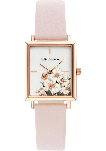 Julie Julsen Quarzuhr »SQUARE DAISY ROSÉ LIGHT PINK, JJW102RGL - 2« kaufen