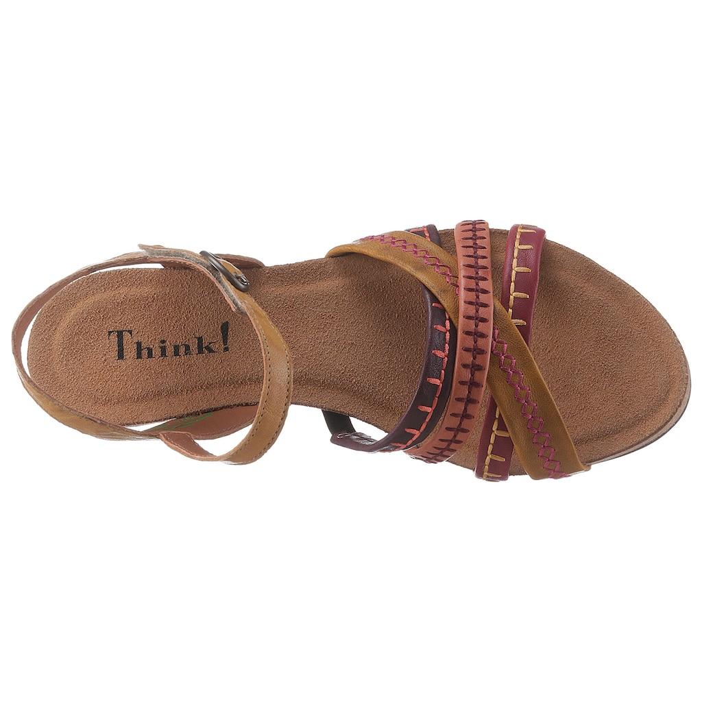 Think! Sandalette »Traudi«, mit schönen Ziernähten
