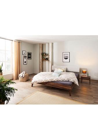 Home affaire Massivholzbett »Natali«, aus Nussbaumholz Massivholz, Futonbett,... kaufen