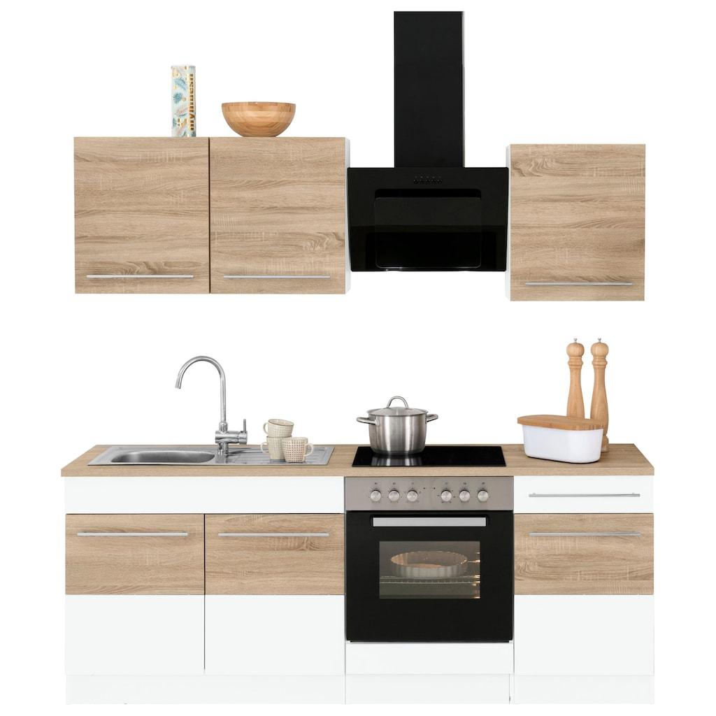 HELD MÖBEL Küchenzeile »Trient«, ohne E-Geräte, Breite 210 cm
