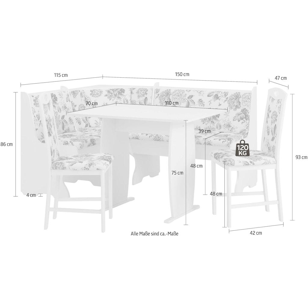 Home affaire Eckbankgruppe »Minden 3«, (Set, 4 St.), im rustikalen Landhausstil
