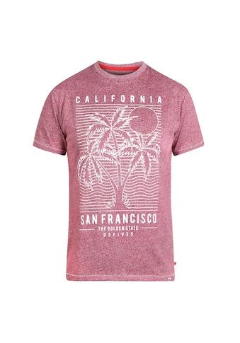 Duke Clothing T-Shirt »Herren Oscar mit San-Francisco-Print, Übergrößen« kaufen