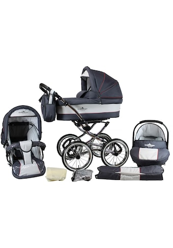 "bergsteiger Kombi - Kinderwagen ""Venedig, grey & red stripes, 3in1"", (10 - tlg.) kaufen"