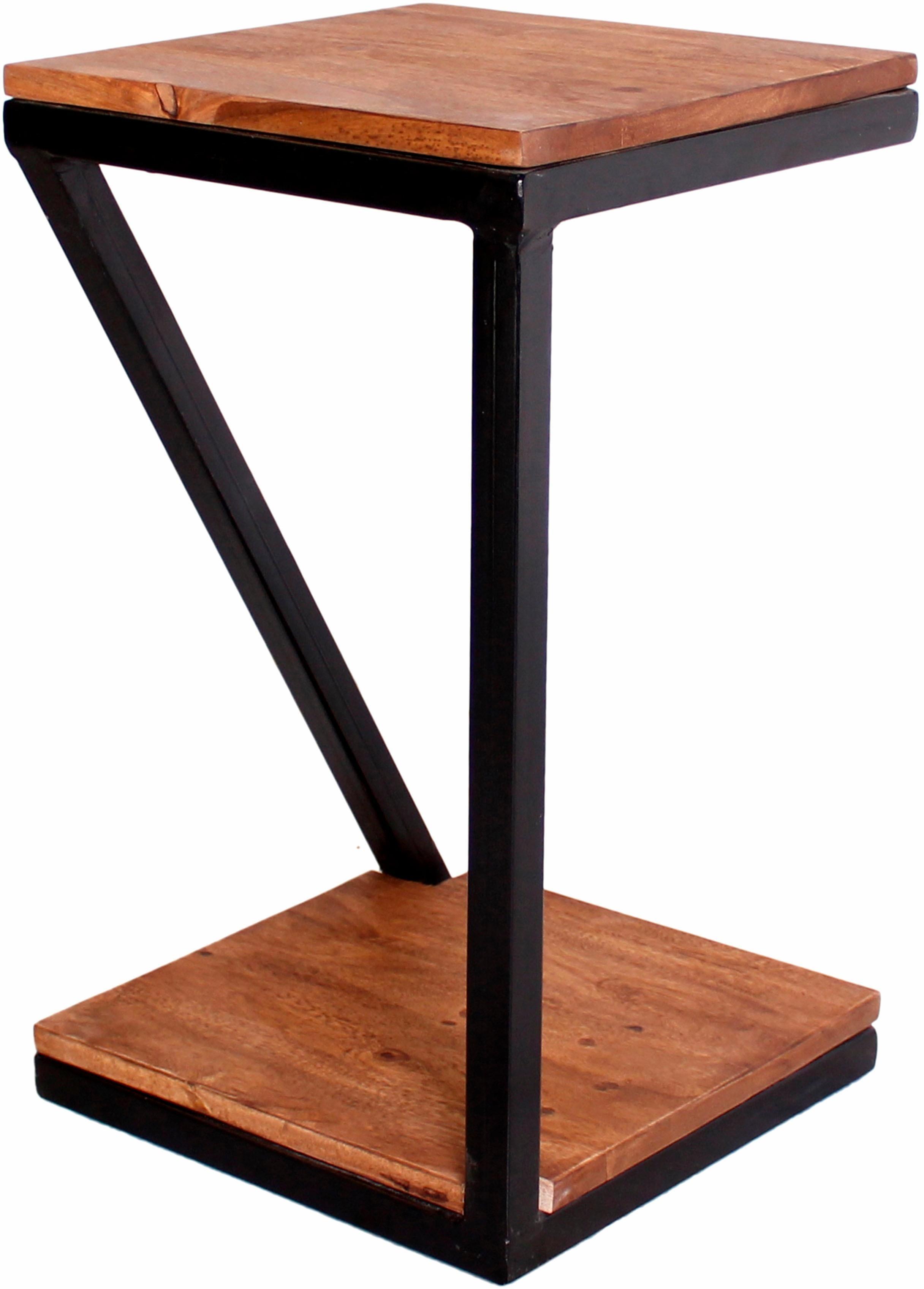 SIT Beistelltisch Panama, aus Metall & Massivholz braun Beistelltische Tische