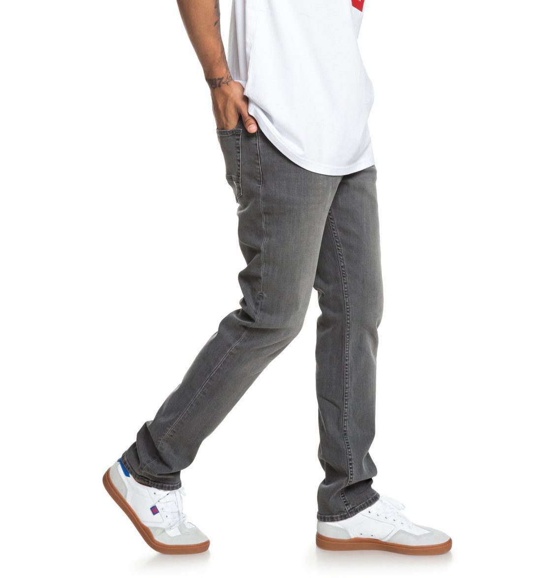 DC Shoes Straight-Jeans »Worker Medium Grey« | Bekleidung > Jeans > Straight Leg Jeans | Schwarz | Jeans - Denim - Leder | Dc Shoes