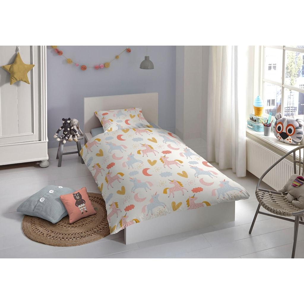 good morning Babybettwäsche »Unilove«, bedruckt mit Einhörnern