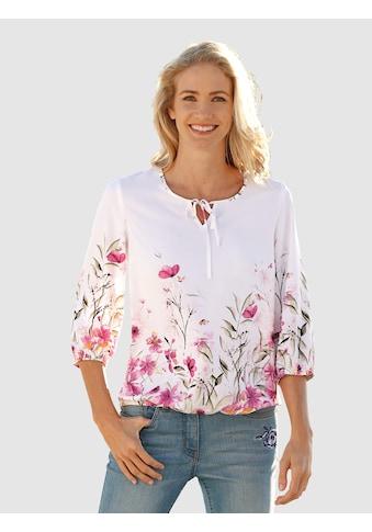 Dress In Tunika mit modischen Blumendruck kaufen