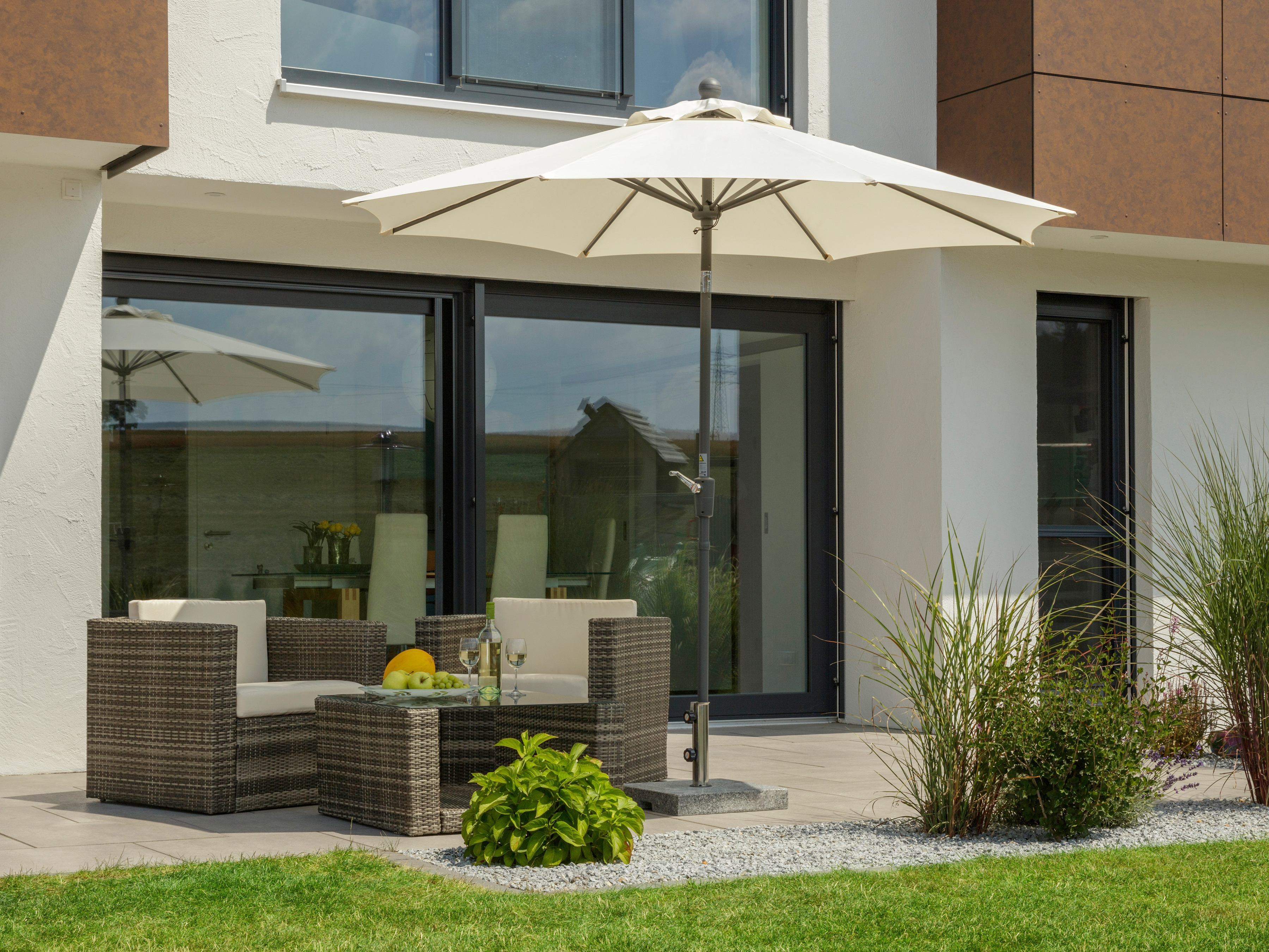 Schneider Schirme Sonnenschirm Harlem, ohne Schirmständer beige Sonnenschirme -segel Gartenmöbel Gartendeko