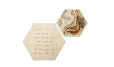 Wall-Art Wandspruch »Schriftzug Collage Zitat Holzbilder« kaufen