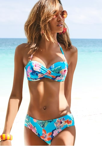 LASCANA Bügel-Bandeau-Bikini, sommerlich bedruckt kaufen
