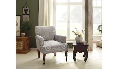 Home affaire Sessel »Jamal«, aus schönem Webstoff, in beeindruckender Farbvariation, mit schönen Stickereien, Sitzhöhe 45 cm kaufen