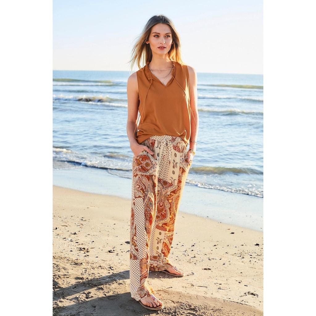 Aniston CASUAL Blusentop, in uni oder bedruckt - du hast die Wahl