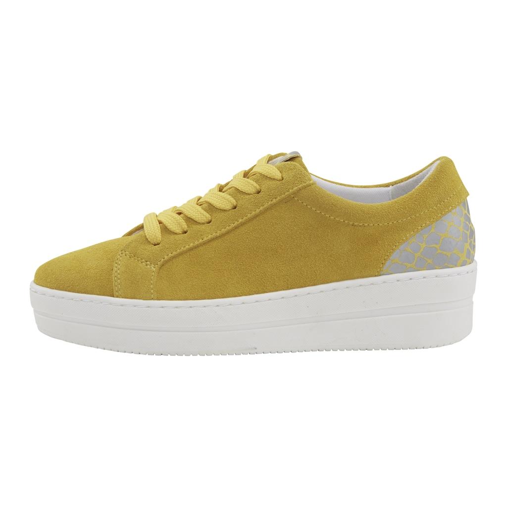 Heine Plateau Sneaker aus Veloursleder