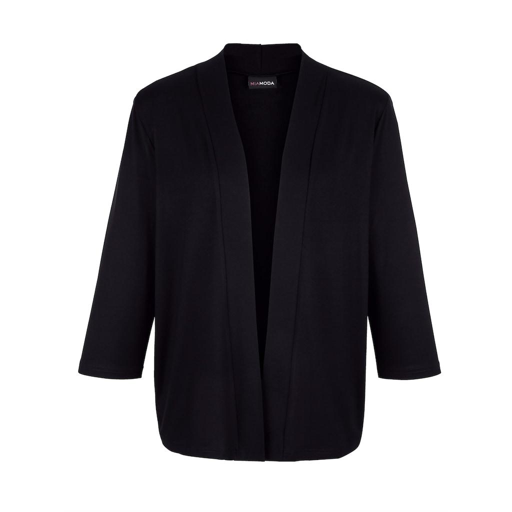 MIAMODA Shirtjacke, in modisch verkürzter Form
