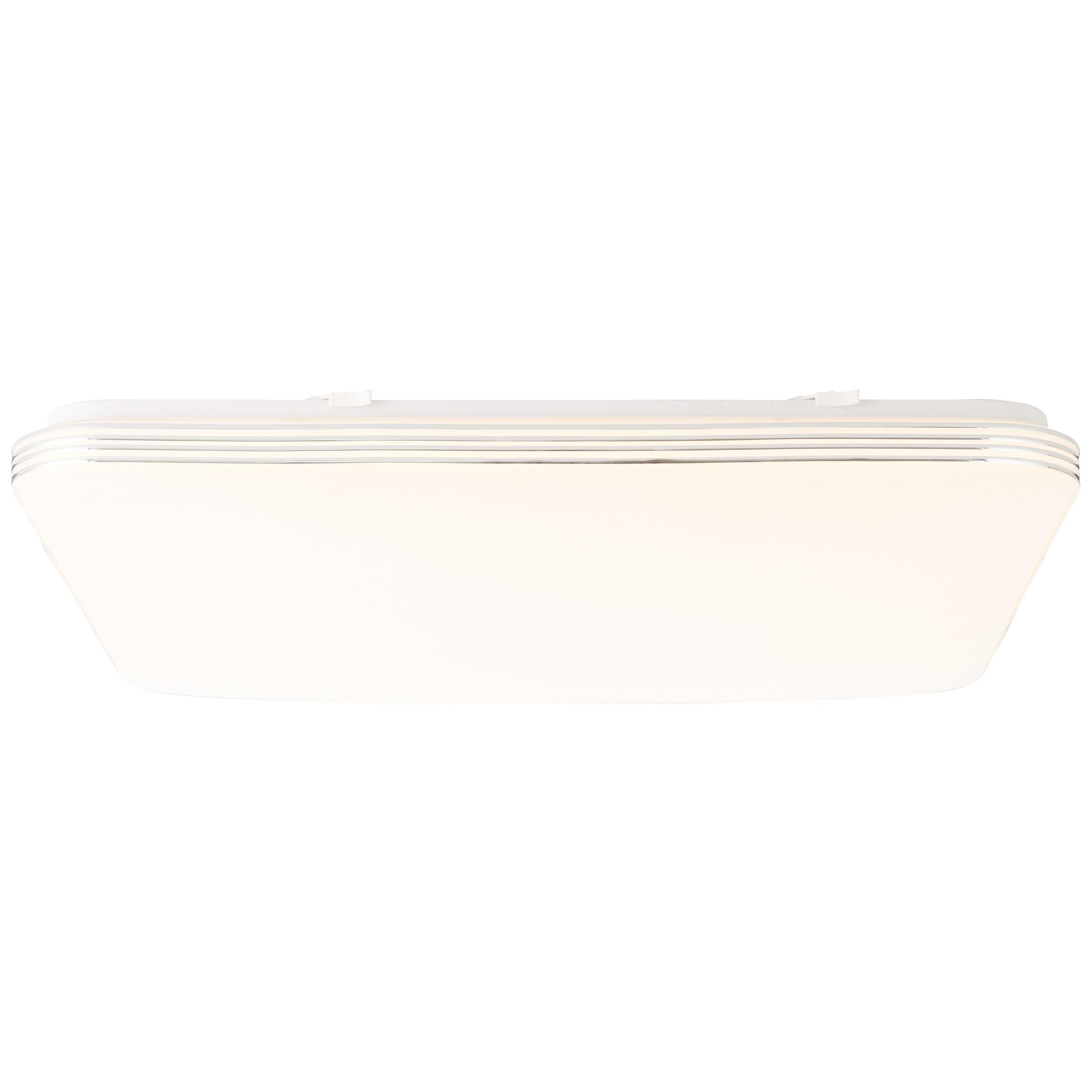 Brilliant Leuchten Ariella LED Wand- und Deckenleuchte 54x54cm weiß/chrom