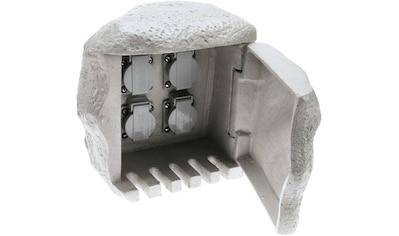 HEITRONIC Gartensteckdose »Stone«, 4-fach, in Stein-Optik kaufen