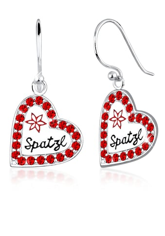 Elli Paar Ohrhänger »Herz Spatzl Swarovski® Kristalle 925 Silber« kaufen