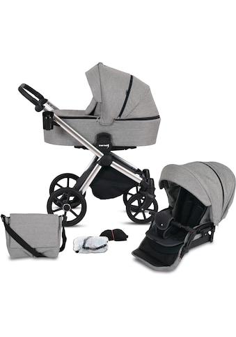 Knorrbaby Kombi-Kinderwagen »Life+ 2.0 Silver Edition, Graphit«, 15 kg, Gestell... kaufen