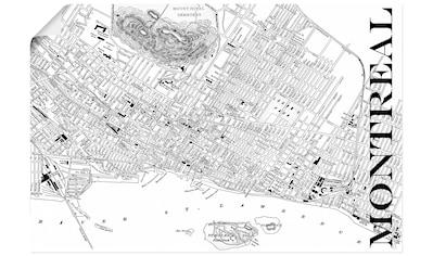 Artland Wandbild »Montreal Karte Straßen Karte«, Amerika, (1 St.), in vielen Größen &... kaufen